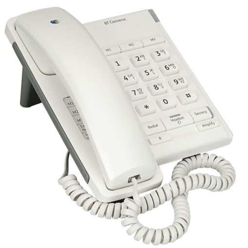 BT Converse 2100 White Corded Telephone