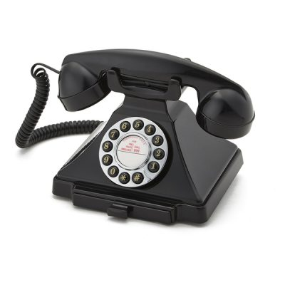 GPO Carrington Black Corded Telephone